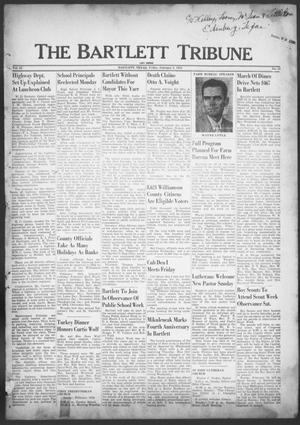 Primary view of object titled 'The Bartlett Tribune and News (Bartlett, Tex.), Vol. 65, No. 14, Ed. 1, Friday, February 8, 1952'.
