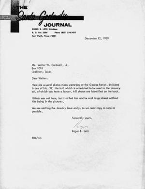 "[Letter with letterhead ""The Santa Gertrud Journal""]"