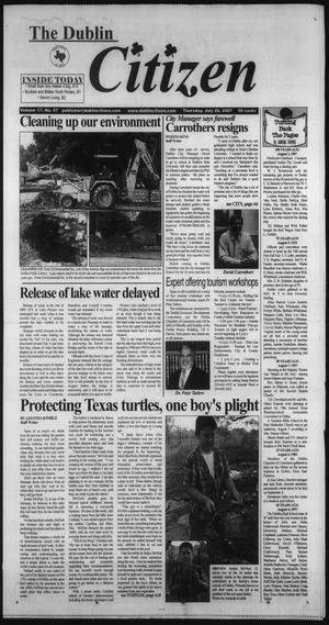 Primary view of object titled 'The Dublin Citizen (Dublin, Tex.), Vol. 17, No. 47, Ed. 1 Thursday, July 26, 2007'.