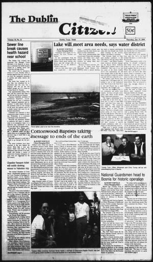 Primary view of object titled 'The Dublin Citizen (Dublin, Tex.), Vol. 10, No. 21, Ed. 1 Thursday, January 27, 2000'.