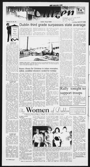 Primary view of object titled 'The Dublin Citizen (Dublin, Tex.), Vol. 13, No. 30, Ed. 1 Thursday, March 27, 2003'.
