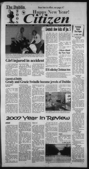 Primary view of object titled 'The Dublin Citizen (Dublin, Tex.), Vol. 18, No. 17, Ed. 1 Thursday, December 27, 2007'.