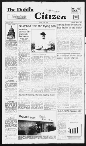 Primary view of The Dublin Citizen (Dublin, Tex.), Vol. 11, No. 32, Ed. 1 Thursday, April 12, 2001