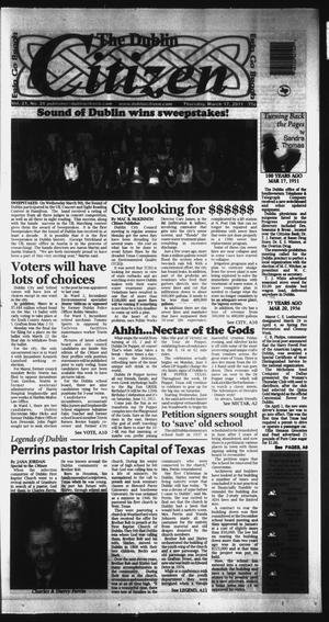 Primary view of object titled 'The Dublin Citizen (Dublin, Tex.), Vol. 21, No. 28, Ed. 1 Thursday, March 17, 2011'.