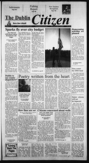 Primary view of object titled 'The Dublin Citizen (Dublin, Tex.), Vol. 17, No. 2, Ed. 1 Thursday, September 14, 2006'.
