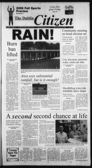 Primary view of object titled 'The Dublin Citizen (Dublin, Tex.), Vol. 16, No. 53, Ed. 1 Thursday, August 31, 2006'.