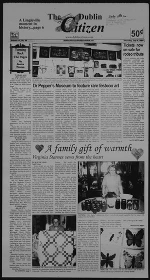 Primary view of object titled 'The Dublin Citizen (Dublin, Tex.), Vol. 14, No. 44, Ed. 1 Thursday, July 8, 2004'.