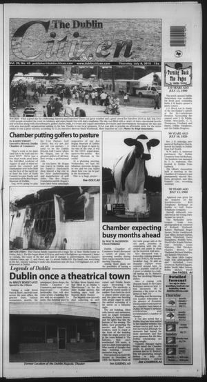 Primary view of object titled 'The Dublin Citizen (Dublin, Tex.), Vol. 20, No. 45, Ed. 1 Thursday, July 8, 2010'.