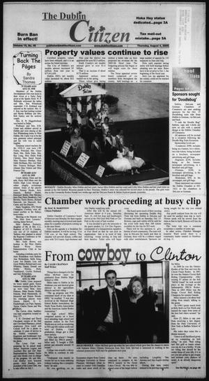 Primary view of object titled 'The Dublin Citizen (Dublin, Tex.), Vol. 15, No. 49, Ed. 1 Thursday, August 4, 2005'.