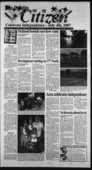 Primary view of object titled 'The Dublin Citizen (Dublin, Tex.), Vol. 17, No. 43, Ed. 1 Thursday, June 28, 2007'.