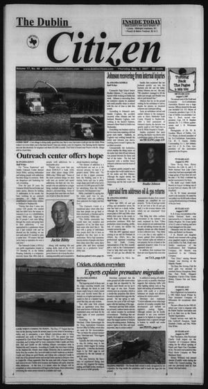 Primary view of object titled 'The Dublin Citizen (Dublin, Tex.), Vol. 17, No. 48, Ed. 1 Thursday, August 2, 2007'.