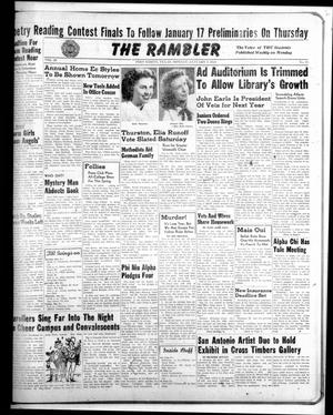Primary view of object titled 'The Rambler (Fort Worth, Tex.), Vol. 20, No. 14, Ed. 1 Monday, January 5, 1948'.