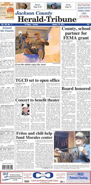 Jackson County Herald-Tribune (Edna, Tex.), Vol. 104, No. 9, Ed. 1 Wednesday, January 19, 2011