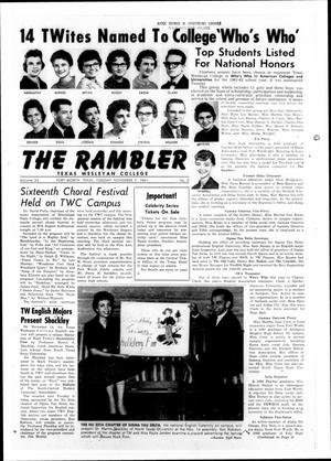 Primary view of object titled 'The Rambler (Fort Worth, Tex.), Vol. 34, No. 08, Ed. 1 Tuesday, November 7, 1961'.
