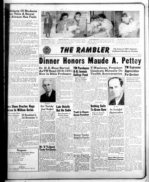 Primary view of object titled 'The Rambler (Fort Worth, Tex.), Vol. 20, No. 9, Ed. 1 Monday, November 10, 1947'.