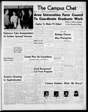 Primary view of object titled 'The Campus Chat (Denton, Tex.), Vol. 47, No. 28, Ed. 1 Wednesday, January 15, 1964'.