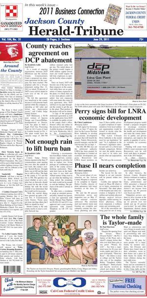 Jackson County Herald-Tribune (Edna, Tex.), Vol. 104, No. 31, Ed. 1 Wednesday, June 29, 2011