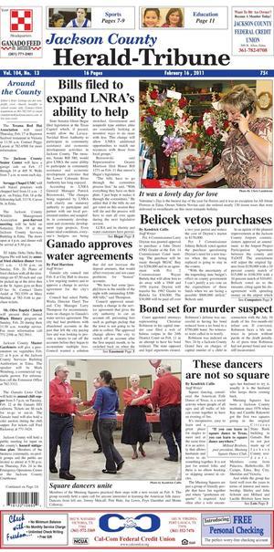 Jackson County Herald-Tribune (Edna, Tex.), Vol. 104, No. 13, Ed. 1 Wednesday, February 16, 2011