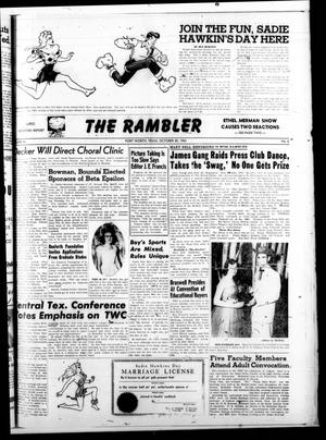 Primary view of object titled 'The Rambler (Fort Worth, Tex.), Vol. 26, No. 6, Ed. 1 Tuesday, October 20, 1953'.