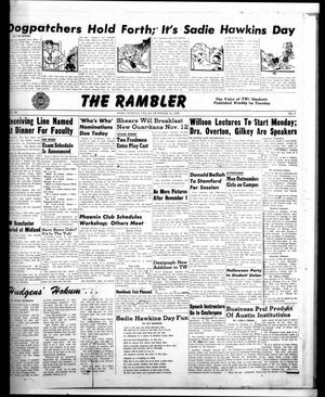 Primary view of object titled 'The Rambler (Fort Worth, Tex.), Vol. 22, No. 7, Ed. 1 Tuesday, October 25, 1949'.