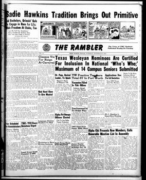 Primary view of object titled 'The Rambler (Fort Worth, Tex.), Vol. 21, No. 7, Ed. 1 Tuesday, October 26, 1948'.