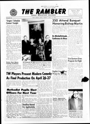 Primary view of object titled 'The Rambler (Fort Worth, Tex.), Vol. 34, No. 23, Ed. 1 Tuesday, April 10, 1962'.