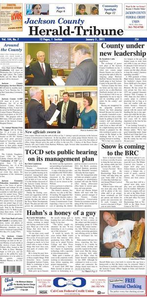 Jackson County Herald-Tribune (Edna, Tex.), Vol. 104, No. 7, Ed. 1 Wednesday, January 5, 2011