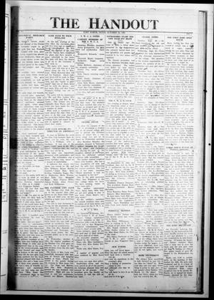 The Handout (Fort Worth, Tex.), Vol. 6, No. 1, Ed. 1 Wednesday, October 12, 1921