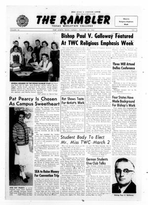 Primary view of object titled 'The Rambler (Fort Worth, Tex.), Vol. 34, No. 16, Ed. 1 Tuesday, February 20, 1962'.