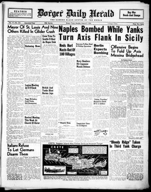 Primary view of object titled 'Borger Daily Herald (Borger, Tex.), Vol. 17, No. 216, Ed. 1 Monday, August 2, 1943'.