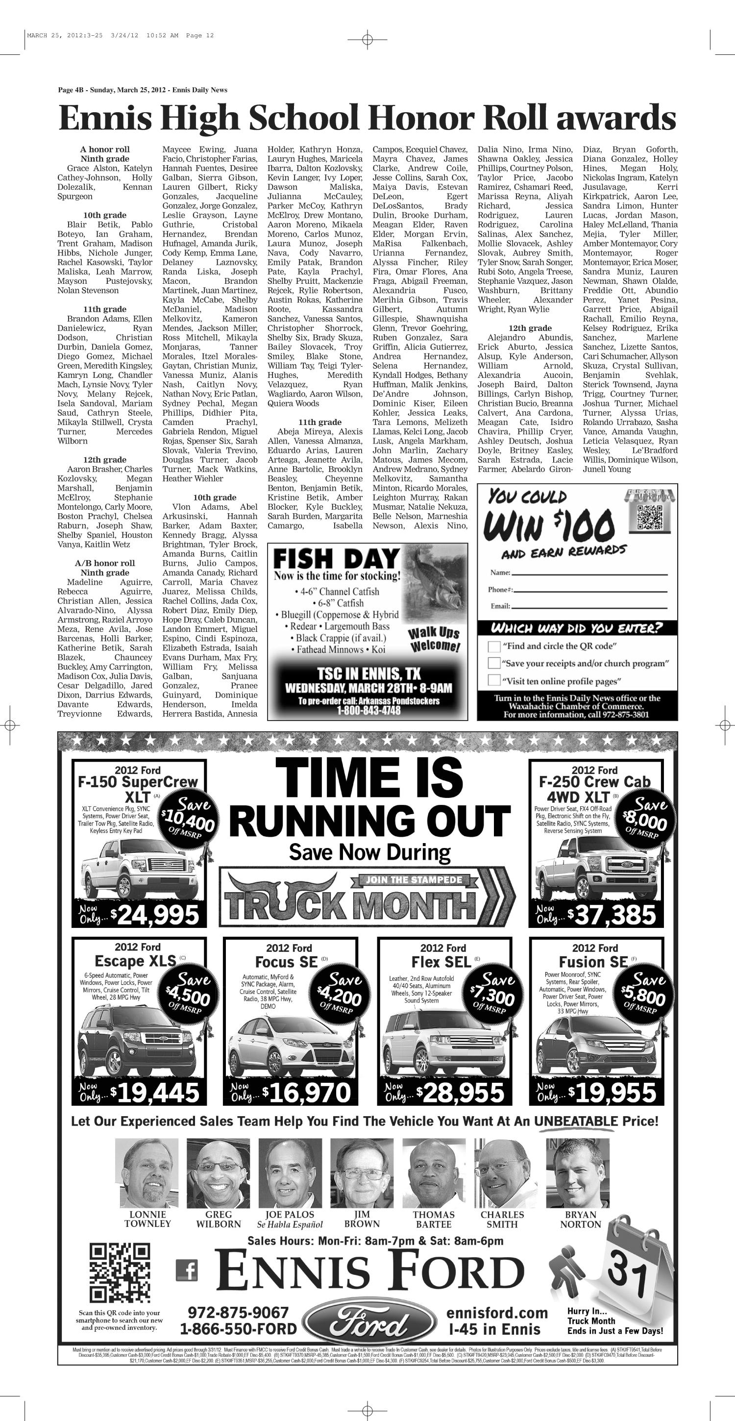 The Ennis Daily News (Ennis, Tex.), Ed. 1 Sunday, March 25, 2012 ...