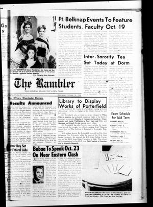 Primary view of object titled 'The Rambler (Fort Worth, Tex.), Vol. 43, No. 5, Ed. 1 Wednesday, October 16, 1968'.