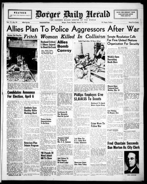Borger Daily Herald (Borger, Tex.), Vol. 17, No. 95, Ed. 1 Sunday, March 14, 1943