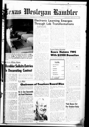 Primary view of object titled 'Texas Wesleyan Rambler (Fort Worth, Tex.), Vol. 44, No. 12, Ed. 1 Wednesday, December 10, 1969'.