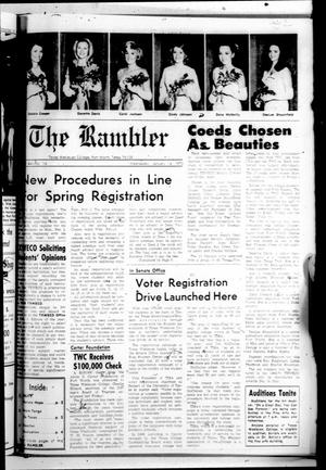 The Rambler (Fort Worth, Tex.), Vol. 44, No. 14, Ed. 1 Wednesday, January 14, 1970