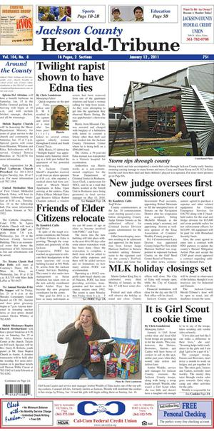 Jackson County Herald-Tribune (Edna, Tex.), Vol. 104, No. 8, Ed. 1 Wednesday, January 12, 2011