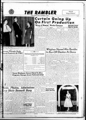 Primary view of The Rambler (Fort Worth, Tex.), Vol. 30, No. 8, Ed. 1 Tuesday, November 5, 1957