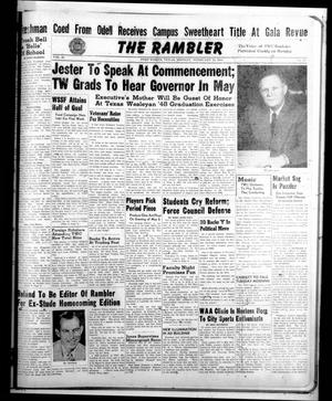 Primary view of object titled 'The Rambler (Fort Worth, Tex.), Vol. 20, No. 20, Ed. 1 Monday, February 16, 1948'.