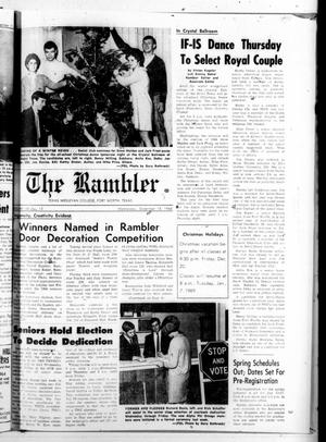 Primary view of object titled 'The Rambler (Fort Worth, Tex.), Vol. 43, No. 13, Ed. 1 Wednesday, December 18, 1968'.