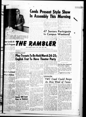 Primary view of object titled 'The Rambler (Fort Worth, Tex.), Vol. 37, No. 22, Ed. 1 Tuesday, March 23, 1965'.
