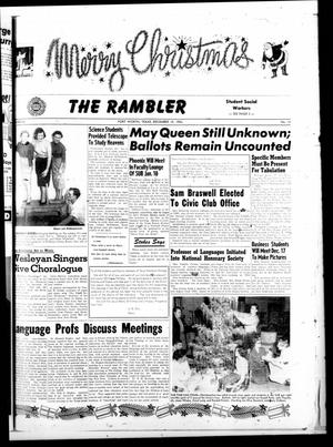 Primary view of object titled 'The Rambler (Fort Worth, Tex.), Vol. 26, No. 13, Ed. 1 Tuesday, December 15, 1953'.