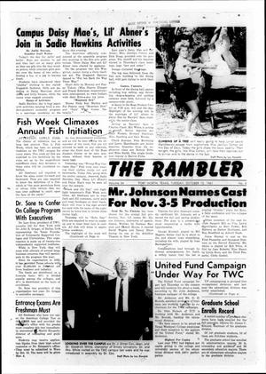 Primary view of object titled 'The Rambler (Fort Worth, Tex.), Vol. 34, No. 04, Ed. 1 Tuesday, October 10, 1961'.