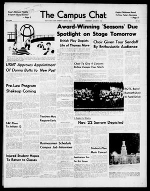 Primary view of object titled 'The Campus Chat (Denton, Tex.), Vol. 47, No. 26, Ed. 1 Wednesday, January 8, 1964'.