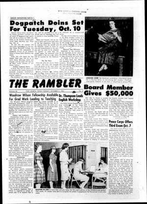 Primary view of object titled 'The Rambler (Fort Worth, Tex.), Vol. 34, No. 03, Ed. 1 Tuesday, October 3, 1961'.