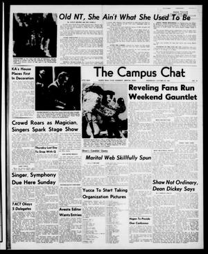 Primary view of object titled 'The Campus Chat (Denton, Tex.), Vol. 47, No. 12, Ed. 1 Wednesday, October 30, 1963'.
