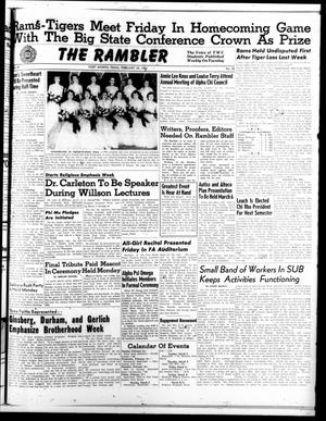 Primary view of object titled 'The Rambler (Fort Worth, Tex.), Vol. 25, No. 20, Ed. 1 Tuesday, February 24, 1953'.