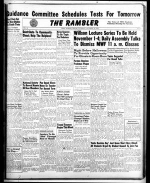 Primary view of object titled 'The Rambler (Fort Worth, Tex.), Vol. 21, No. 6, Ed. 1 Tuesday, October 19, 1948'.