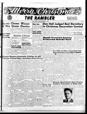 Primary view of object titled 'The Rambler (Fort Worth, Tex.), Vol. 25, No. 14, Ed. 1 Tuesday, December 16, 1952'.