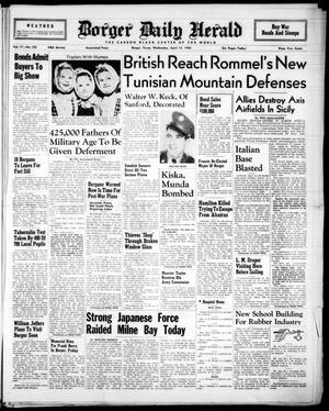 Borger Daily Herald (Borger, Tex.), Vol. 17, No. 122, Ed. 1 Wednesday, April 14, 1943