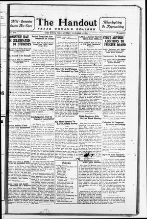 The Handout (Fort Worth, Tex.), Vol. 13, No. 09, Ed. 1 Friday, November 16, 1928